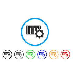Bar code settings rounded icon vector
