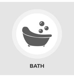 Bath flat icon vector