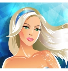 beautiful bride blonde vector image