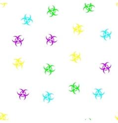 Biohazard Seamless Flat Pattern vector image