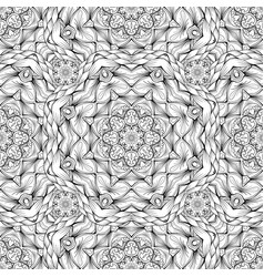 black and white oodles kaleidoscope vector image
