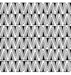 Black and white seamless pattern with triangles vector image vector image