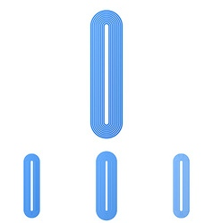 Blue line i logo design set vector