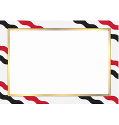 Border made with egypt national colors vector