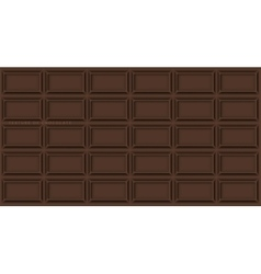Chocolate bar background of chocolate vector