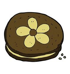 comic cartoon biscuit vector image