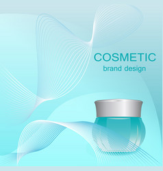 Cosmetic cream blue container vector