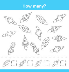 counting game for preschool children count how ma vector image