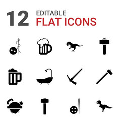 Craft icons vector