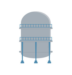 crude oil storage reservoir tank with stairs vector image