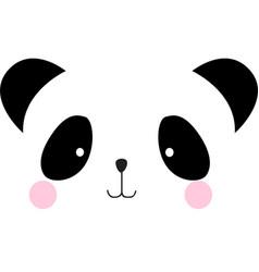 Cute panda bear face cartoon vector