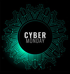 Cyber monday banner in digital style background vector