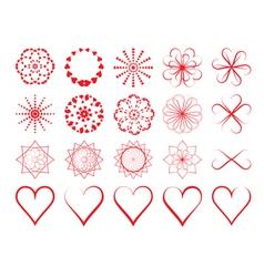 Day of Valentine symbols vector image