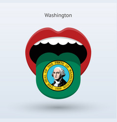 Electoral vote of washington abstract mouth vector