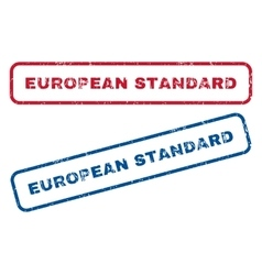 European Standard Rubber Stamps vector image