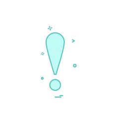 exclimination icon design vector image