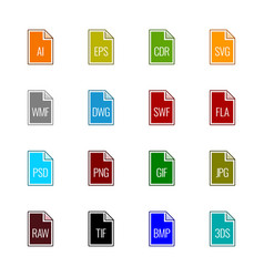 File type icons - graphics vector