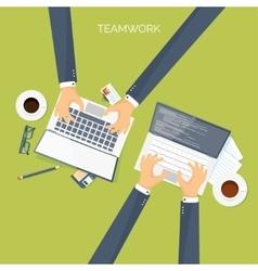 Flat header Teamwork Smart vector image