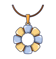 Flower necklace icon cartoon style vector