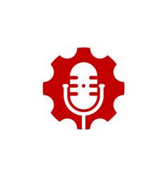 gear podcast logo icon design vector image