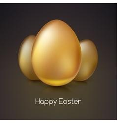 Golden Easter eggs vector image
