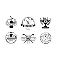golf club premium logo design set golfing club vector image