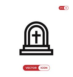 grave icon vector image