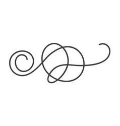 Hand drawn monoline calligraphy scandinavian folk vector