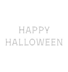 Happy Halloween bone text White background vector