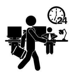 human activity vector image