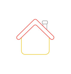Icon concept house with roof vector