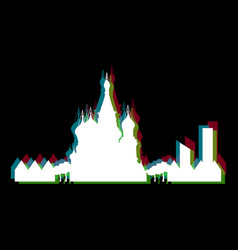 isolated moscow cityscape vector image