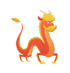 japan or china dragon cartoon cute vector image