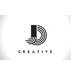 Jo logo letter with black lines design line letter vector