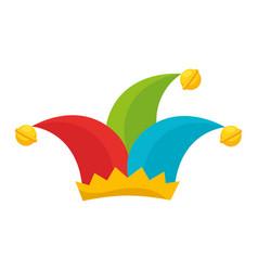 Joker cap hat vector