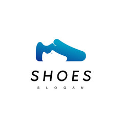 kid and dad shoes logo design inspiration vector image