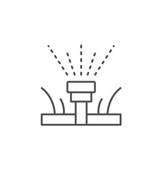 Lawn watering line outline icon vector