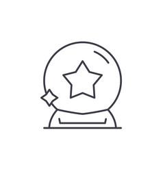 magic ball line icon concept magic ball vector image