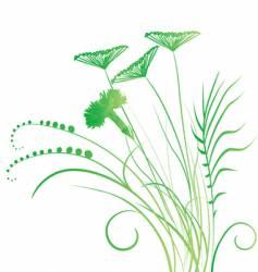 Meadow wild plants vector