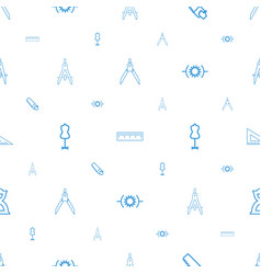 Measure icons pattern seamless white background vector