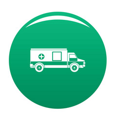 medical aid icon green vector image