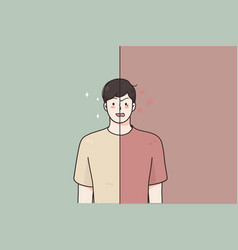 Mental problems bipolar disorder concept vector