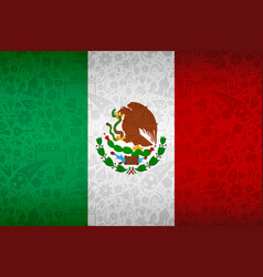 mexico flag background for russian soccer event vector image