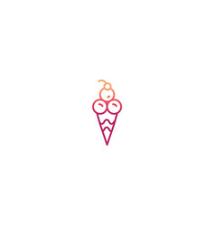 minimal ice cream icon vector image