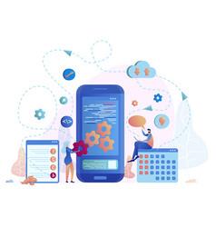 Mobile application development vector