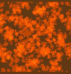 Orange autumn leaves vector
