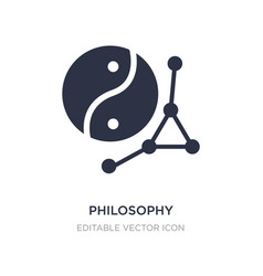 Philosophy icon on white background simple vector