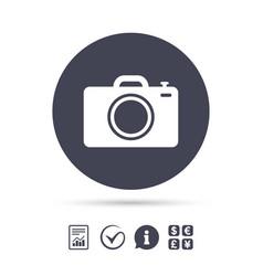 photo camera sign icon photo symbol vector image
