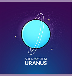 planet uranus vector image