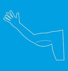 Plastic surgery flabby arm correction icon vector